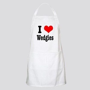 I Heart (Love) Wedgies BBQ Apron